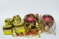 Items to decorate the Christmas tree Royalty Free Stock Photo