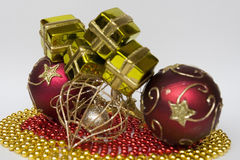 Items to decorate the Christmas tree Royalty Free Stock Photos