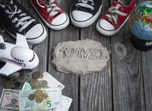 Items traveler,travel concept Stock Images