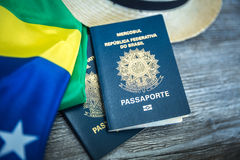 Items for traveling, Brazilian content Stock Photography