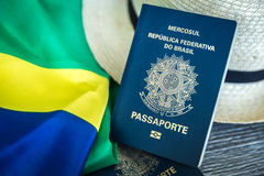 Items for traveling, Brazilian content Royalty Free Stock Photography