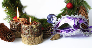 Items of winter holidays Royalty Free Stock Photos