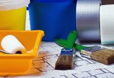 Items y accesorios para la reparación Imagen de archivo