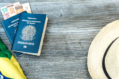 Itens for traveling, Brazilian content Royalty Free Stock Photo