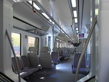 Iterior of Speed Train. Royalty Free Stock Photo