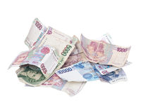 Itexit, cédulas da moeda da lira italiana Fotos de Stock Royalty Free
