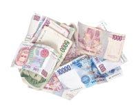 Itexit, cédulas da moeda da lira italiana Foto de Stock Royalty Free