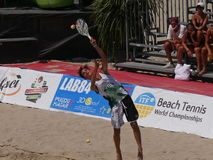 ITF Beach Tennis World Championship 2016 – Boys Double Final Royalty Free Stock Image