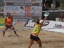 ITF Beach Tennis World Championship 2016 – Ladies Double Final Royalty Free Stock Photos