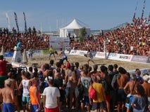 ITF Wyrzucać na brzeg Tenisowego Światowego mistrzostwa 2016 †'Plażowa arena Obraz Royalty Free