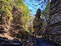 Ithaca, водопад NY стоковая фотография rf