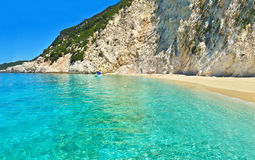 Ithaca beach Ionian islands Greece royalty free stock photo