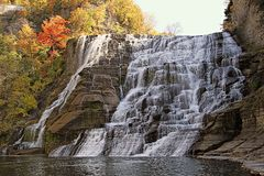 Ithaca Falls in Autumn Royalty Free Stock Image