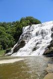 Ithaca Falls, ein Wasserfall in der New- York` s Finger See-Region Lizenzfreies Stockfoto