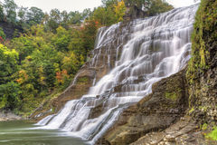 Ithaca Falls serico Fotografie Stock