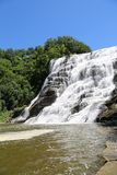 Ithaca Falls, a waterfall in New York`s Finger Lakes Region royalty free stock photo