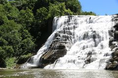 Ithaca Falls, a waterfall in New York`s Finger Lakes Region royalty free stock photography