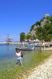 Ithaca-Insel-Hafenurlauber, Griechenland Stockbilder