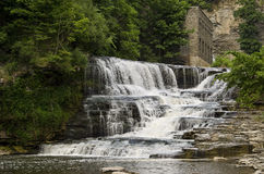 Ithaca, New York waterfall Royalty Free Stock Photo