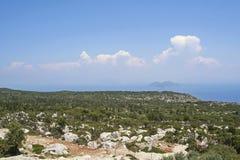 Ithaka海岛,希腊语 库存照片