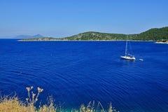Ithaki-vista de Grécia, ilha da ilha Atokos Fotos de Stock