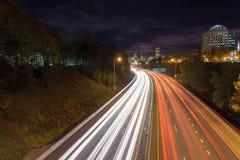 IThrough d'un état à un autre Portland Orégon Etats-Unis du centre d'autoroute Image libre de droits