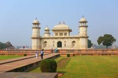 Itimad-ud-Daulah坟茔在阿格拉,北方邦,印度 库存照片