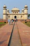 Itimad-ud-Daulah坟茔在阿格拉,北方邦,印度 免版税图库摄影