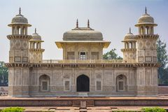 Itimad-ud-Daulah或婴孩Taj在阿格拉,印度 库存图片