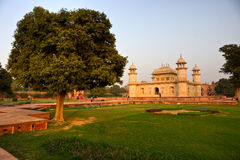Itimad-ud-daulah am Sonnenuntergang, Agra, Uttar Pradesh, I Stockfotografie