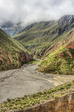 Itinéraire 13 à Iruya dans la province de Salta, Argentine Photos stock