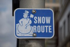 Itinéraire alternatif de neige image stock