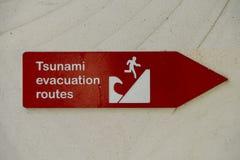 Itinéraire d'évacuation de tsunami photos stock