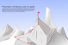Itinéraire d'alpinisme à faire une pointe illustration libre de droits