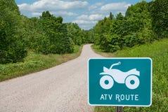 Itinéraire d'ATV photos libres de droits