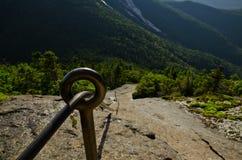 Itinéraire de câble de montagne de Gothics dans l'Adirondack Hig Images libres de droits