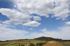 Itinéraire de ciel de prairie de la Chine Image libre de droits
