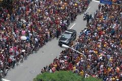 Itinéraire de défilé de clairière de voiture de police Photos libres de droits