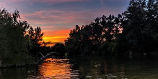Itinéraire de kayak image libre de droits
