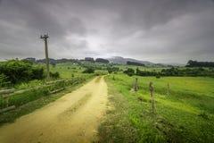 Itinéraire de l'eau, de Corvera à Pravia photos libres de droits