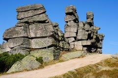 Itinéraire de montagne en montagnes de Karkonosze, Pologne images libres de droits