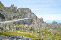 Itinéraire de touristes national de Vardø à Hamningberg dans Finnmark, Norvège du nord Images stock