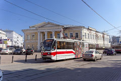 Itinéraire 21 de tram Nizhny Novgorod Photos stock