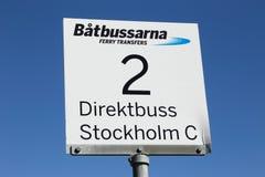 Itinéraire 2 de transfert de ferry image libre de droits