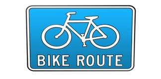ITINÉRAIRE de vélo Photo stock