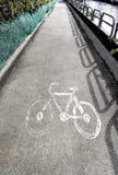 Itinéraire de vélo Image libre de droits