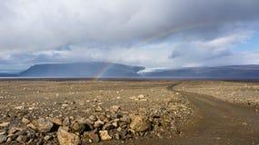 Itinéraire des montagnes de Kjölur Image libre de droits
