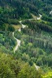 Itinéraire en montagnes photo stock