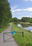 Itinéraire et connexion Bourgogne de cycle de Voies Verte Photos libres de droits
