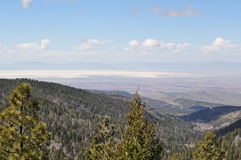 Itinéraire 54 jusqu'à Cloudcroft, Nouveau Mexique Image libre de droits